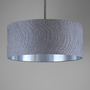 Blizza Slate Shallow Drum Shade