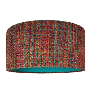 Djembe Hand Woven Shade with Teal Silk Lining