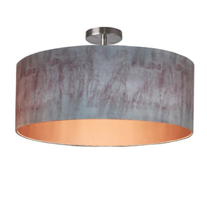 Blush Pink and Grey Ombre Electrified Pendant Shade