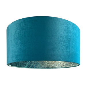 Allure Teal Velvet Shade with Pacha Teal Lining