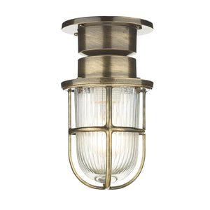 David Hunt Coast 1 Light Ceiling Light Antique Brass