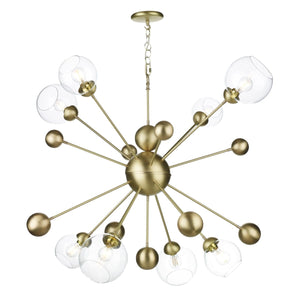 David Hunt Cosmos 8 Light Horizontal Pendant In Butter Brass