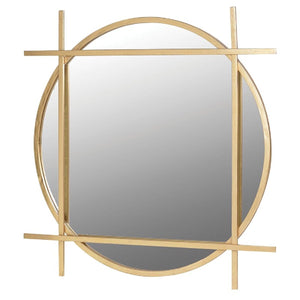 Gold Round & Square Mirror