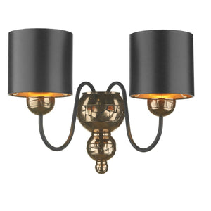 David Hunt Garbo Bronze & Black Shaded Wall Light