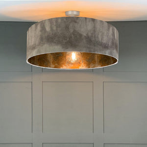 Grey Ombre Electrified Pendant Shade with Anthology Oxidise Lining in Copper