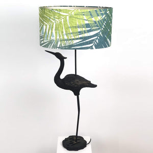 David Hunt Bird Table Lamp with Aruba Green Shade
