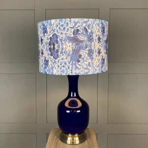 Bluebird Blue Vase Table Lamp With Shade