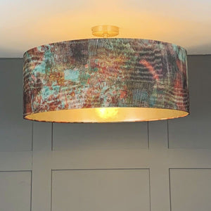 Chameleon Electrified Shade lined with Champagne Burnished Wallpaper