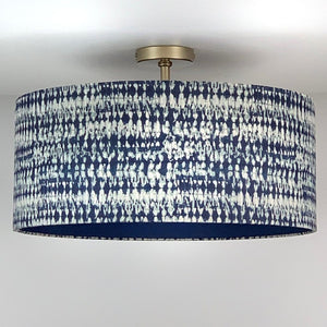 Kotomi Indigo Electrified Shade with Blue Silk Lining