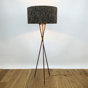 Brondby Tripod Floor Lamp Aged Bronze With Moods 7 Shade