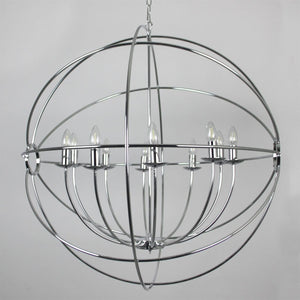 Orion 10 Light Chrome Spherical Chandelier