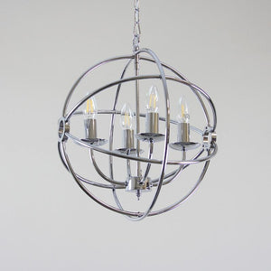 Orion 4 Light Chrome Spherical Chandelier