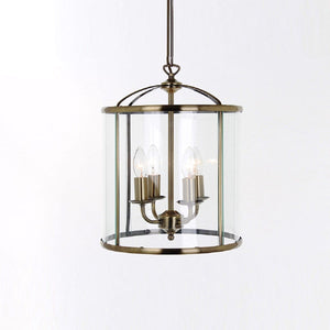 Orly 4 Light Antique Brass Lantern
