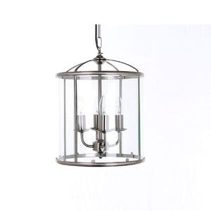 Orly 4 Light Satin Nickel Lantern