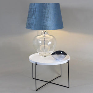Moffat Table Lamp with Texture Velvet Marine Shade