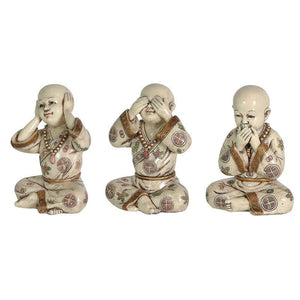 Set of 3 'See No Evil' Ornaments