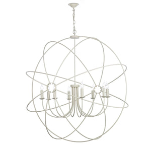 David Hunt Orb 8 Light Pendant Cream
