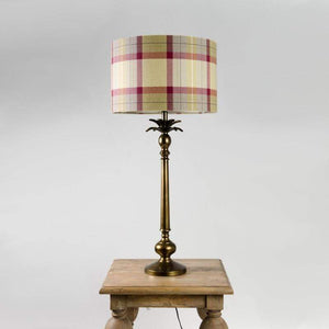 Palm Tree Table Lamp Soft Aged Bronze with Munro Vintage Tartan Shade