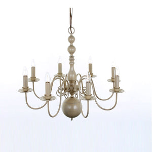 Flemish 8 Light Painted Chandeliers