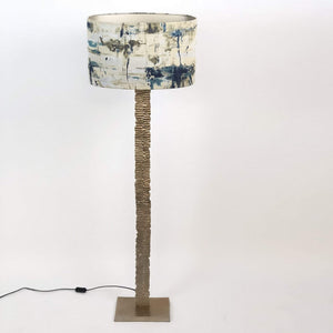 Paperbark Large Floor Lamp Opulent Gold with Hazel 3 Shade
