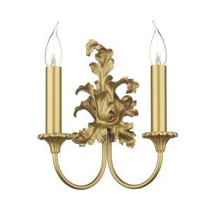 David Hunt Ormolu Double Wall Light