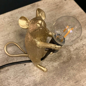 Gold Standing Mouse Table Lamp