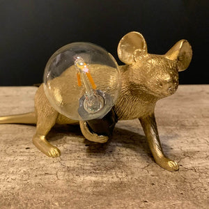 Gold Lying Mouse Table Lamp