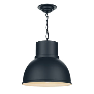 David Hunt Shoreditch 1 Light Pendant Small Smoke Blue