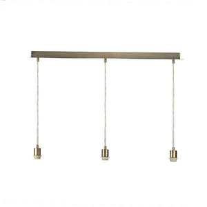 3 Light E27 Pendant Lampholder Bar with Finish Options