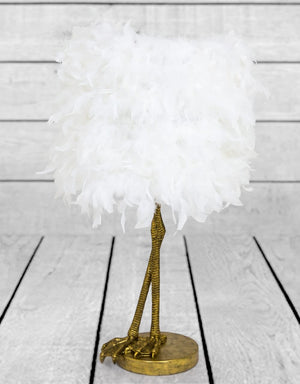 Stepping Out Bird Leg Brass Table Lamp