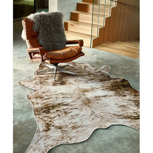 Texas Faux Cowhide Rug Grey