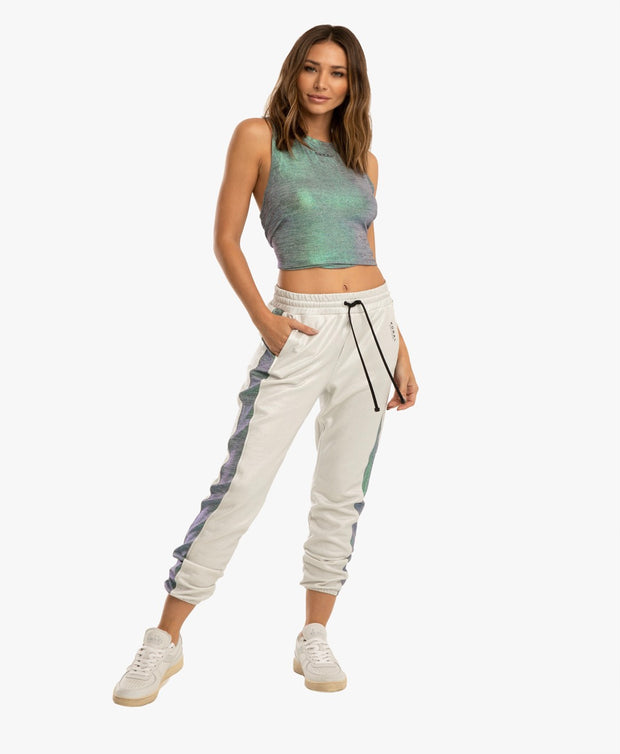 Brink Dive Sweatpants - Iridescent White