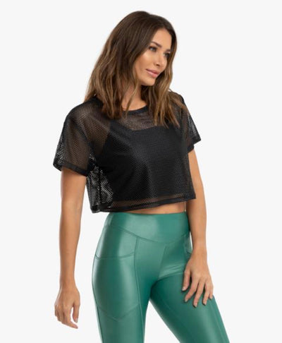 Terrain Open Mesh Crop Top