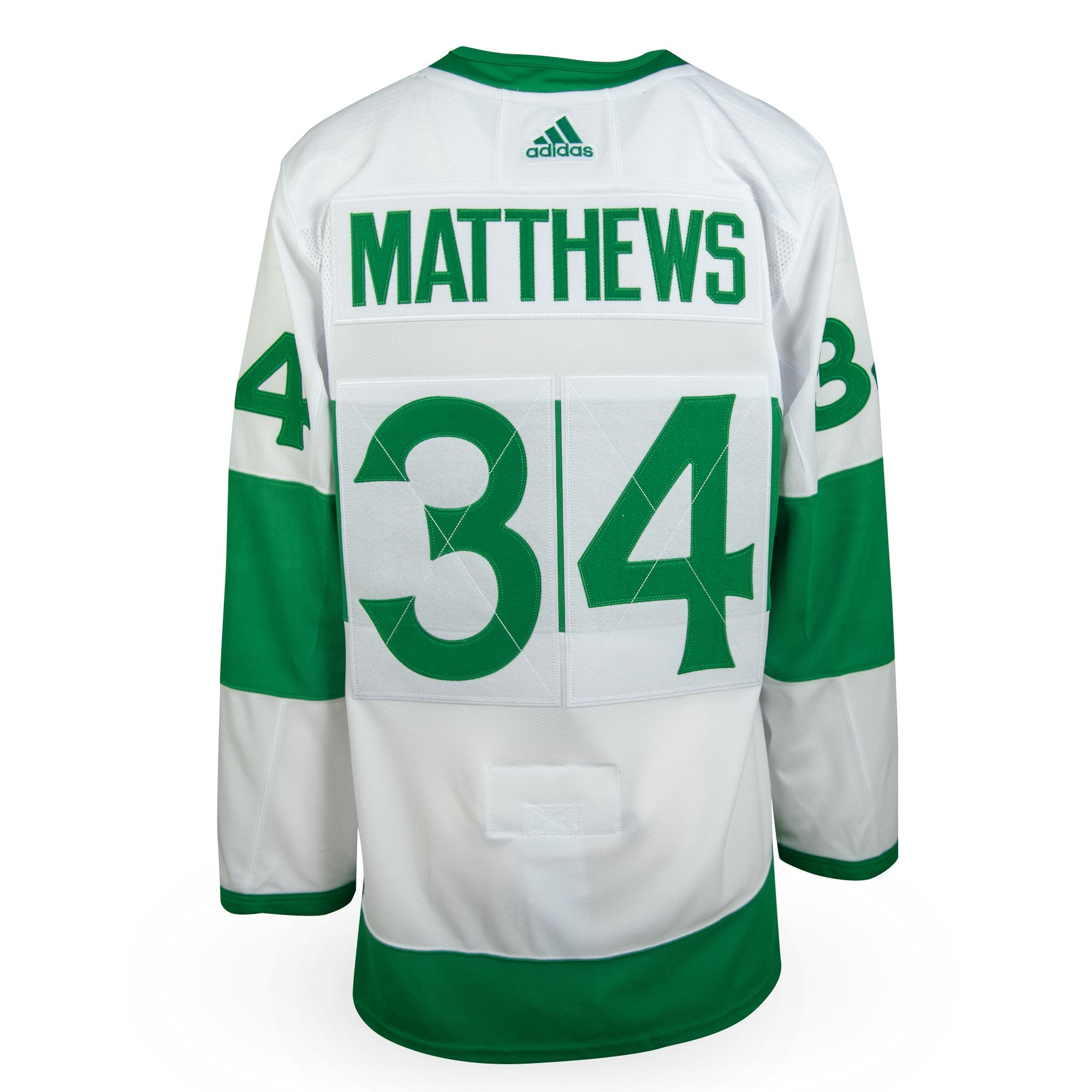 detailed look d7928 3dcbb Auston Matthews Adidas Authentic St. Pats Jersey
