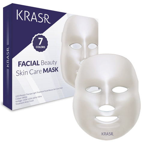 Krasr skin care & beauty mask offers 150 high-quality non-heat producing LED lights.There are no side effects. Krasr offers pure light and energy for skin care, which is suitable for all skin types.