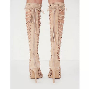 Topsqueen Lace-Up Knee High Boots
