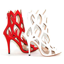 Topsqueen Stunning Leather Cut-Outs Dress Sandals