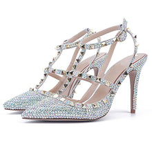 Topsqueen Diamonds Pointed Toe Stiletto Heels