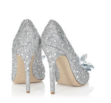 Topsqueen Cinderella Crystal Shoes