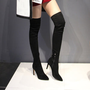 Topsqueen Black Thigh High Boots