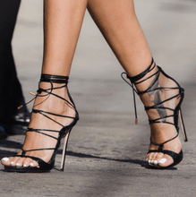 Topsqueen Cross Strap Stiletto Heel Sandals