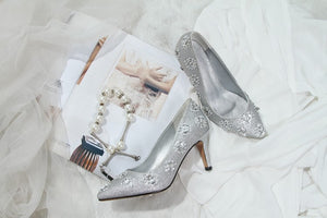 Topsqueen Crystal Party Wedding Shoes