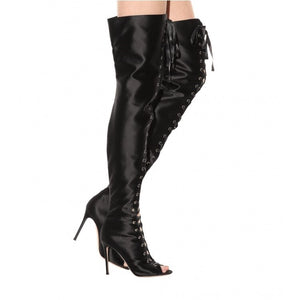 Topsqueen Satin Knee High Boots