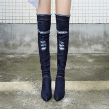 Topsqueen Hollow Worn Knee High Boot
