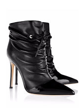 Topsuqeen Genuine Leather Solid Color High Heel Ankle Boots