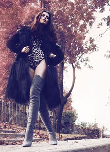 Topsuqeen Suede Thigh High Boots