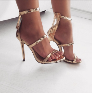 Topsqueen Gold Sandals