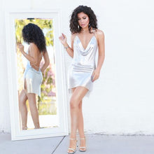 Topsqueen Mesh Dress-Sliver