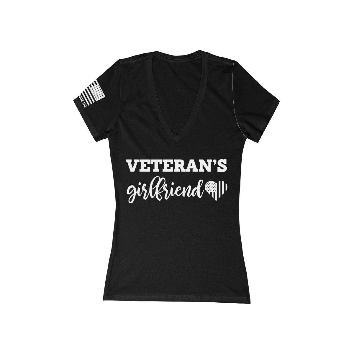 Veteran's Girlfriend Women's V-Neck Tee