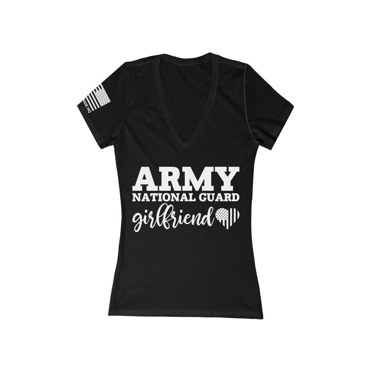 Army National Guard Daughter Women's V-Neck Tee